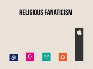 Religious Fanaticism of Apple
